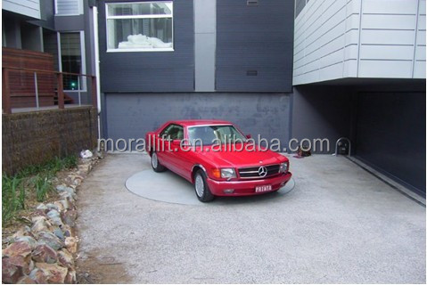 Cheap car turntable parking in residential garage buy for Cheap car garages