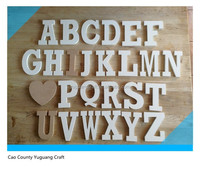 Hand Painted Full Wooden Alphabet Set 26 Letters