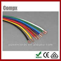 0.75mm2 H05V2-K PVC insulated single cords pvc flexible cord