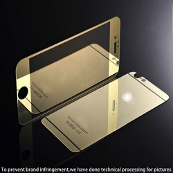 2015 New top electro plated colored Tempered Glass screen protector,high quantity desktop screen protector hot sale