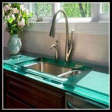 Contemporânea de vidro do banheiro contador top para o projeto em casa
