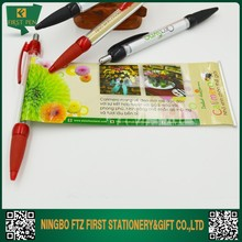 Plastic Pull Out Ad Banner Pen