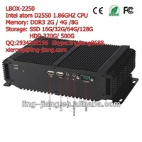 """fanless low power consumption industrial computer, LBOX-2550, support 2.5"""" HDD SATA, mSATA, SSD"""
