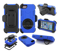 2015 New popular Top quality Belt clip shockproof defender PC+Silicone case hard rugged kickstand case for iPhone 5G 5C 5S