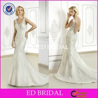 Geogeous CB1304 Little Mermaid Sleeveless Fitted Low Back Sexy Bridal Gown