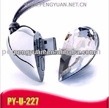 heart shape jewelry usb with necklace