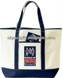 Top Quality Promotional canvas beach bag / cotton beach bag