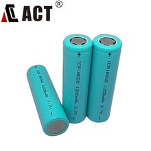 Lithium ion battery 3.7V 18650 1200mAh rechargeable lithium battery with protection