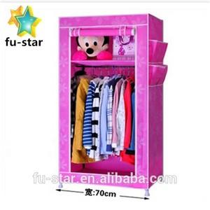 Pn niños portable DIY tela no tejida pared del dormitorio diseño de vestuario