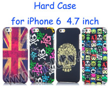 2014 Hard Case Back Cover for iPhone 6, Skull Case, Flag Phone Case for iPhone 6 Plus