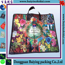 Custom pp non woven bag and colors coating printing LOGO of home furnishings, reusable bag