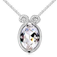 essential oil pendant necklace wholesale Zodiac necklace swarovski crystal