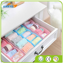 New Plastic Organizer Underwear Storage Box for Tie Bra Socks Drawer Cosmetic Divider