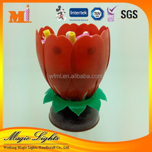 New Style Rotating Flower Music Candle