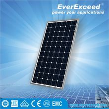 EverExceed High Quality 230w Monocrystalline Solar Panel made of Grade A solar cell with TUV/VDE/CE/IEC certificates