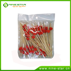 Wholesale colorful new style disposable wooden fruit forks