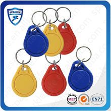 Plastic key tags/rfid key tag card/rfid proximity key tag
