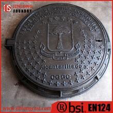 EN124 cast iron telecom manhole cover foundry direct sale