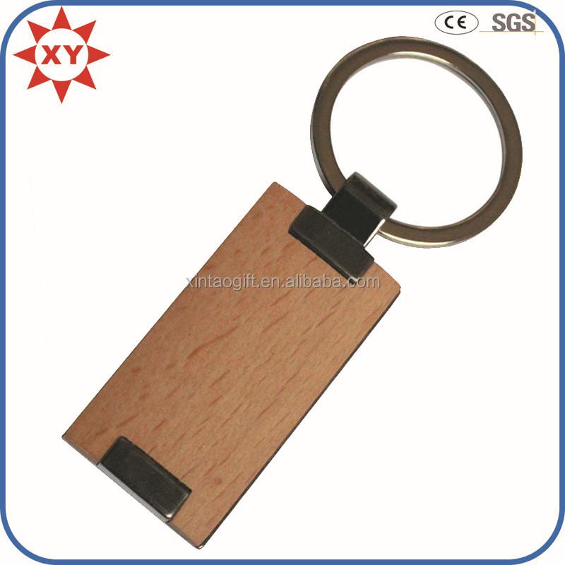 Nouveau à la main en bois porte-clés, en bois porte-clés, blanc en bois porte-clés