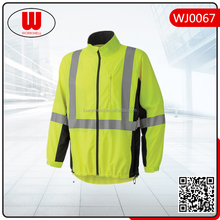 sports soft shell hiking jacket with reflective tape