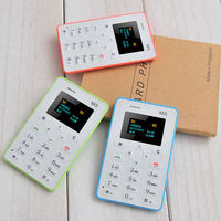 mobile smart phone, slim qwerty keypad mobile phone, AEKU M5 Card size mobile phone