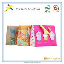 2015 new style clear printed promotional paper bag and wholesale shopping paper bag/ gift paper bag/ packaing bag