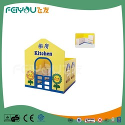 Classic wooden toys series kitchen theme kids playhouse wooden furniture