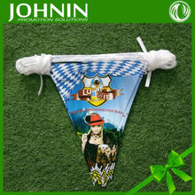 hot promotion sale sexy design double sided print paper bunting flag