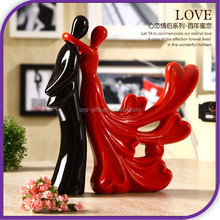 height 28cm resin lover wedding decoration