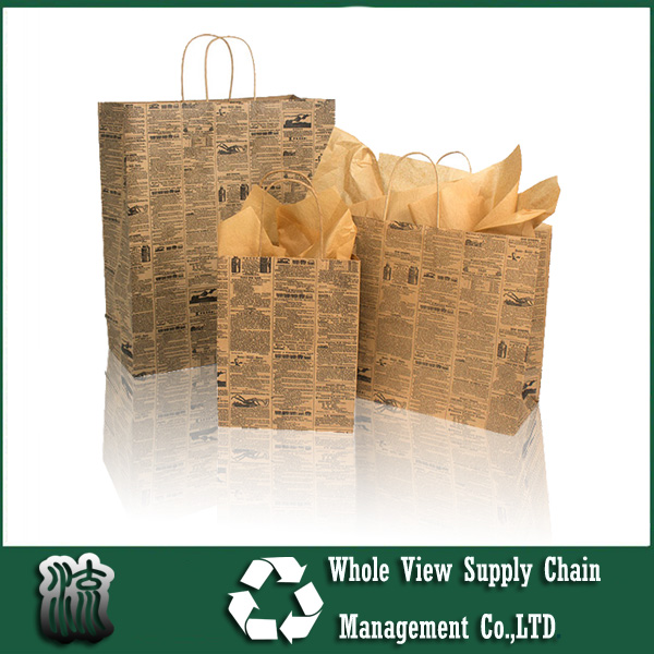 Cheap large Newsprint Paper Shopping Bags