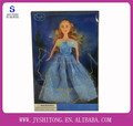 201511.5นิ้วของขวัญสาวชุดสีฟ้าแสดงเจ้าหญิงตุ๊กตาcinderellaสำหรับร่าง