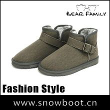 Women's snow boots twill fabric new style 2012 ankle boot