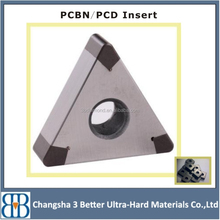 Excellent PCD/PCBN solid turning insert for lether and milling machine