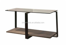 2015 New Metal Frame Wooden Storage And Display Square Corner Table