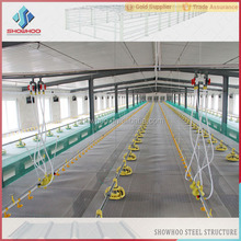 Low Cost prefabricated steel structure chicken big sheds for sale
