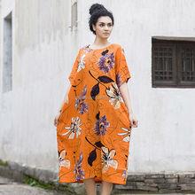 Esquema de la marca mujeres de Butique vestidos manga corta de verano Hawaiian style a la moda vestido para mujeres