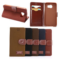 Retro vintage style magnetic leather case for Samsung Galaxy S6