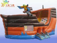 inflatable pirate ship//inflatable playground//kids inflatable