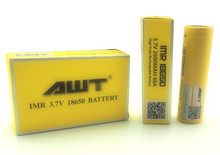 3.7V AWT 40A IMR 2600mAH 18650 rechargeable lithium ion battery nife battery