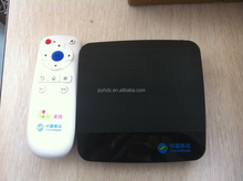 The small size graceful shape smart tv box with universal remote control