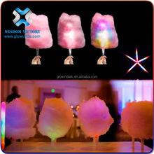 Wisdom Victory 2015 Cheap Led Gifts Light Plastic Candy Stick,led cotton candy stick