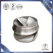 Oem 304 de silicio sol casting y mecanizado de piezas de repuesto para impulsor de la bomba