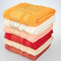 stock cheap factory 100% bamboo bath towel /set towel with border