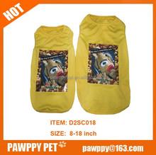 Summer Dog Clothes Cartoon Dog T-shirt