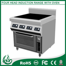 China hot sale Stainless steel Four burner commercial induction ranges
