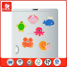 18 pcs kids good quality of bass plywood water paint toys magnetic toys puzzles for educational toy wooden fridge magnet sticker