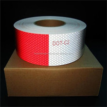 Red/White DOT-C2 Reflective tape for trucks and trailers
