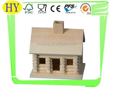2015 china supplier new unfinished wooden bird house wholesale
