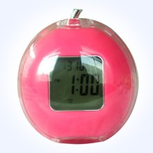 Table apple shape mini decorative digita play alarm clock