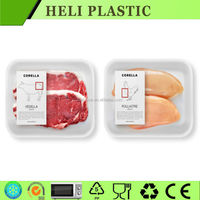 Flat Plastic Food fruit/vegetable/meat/seafood Packing Tray alibabafr